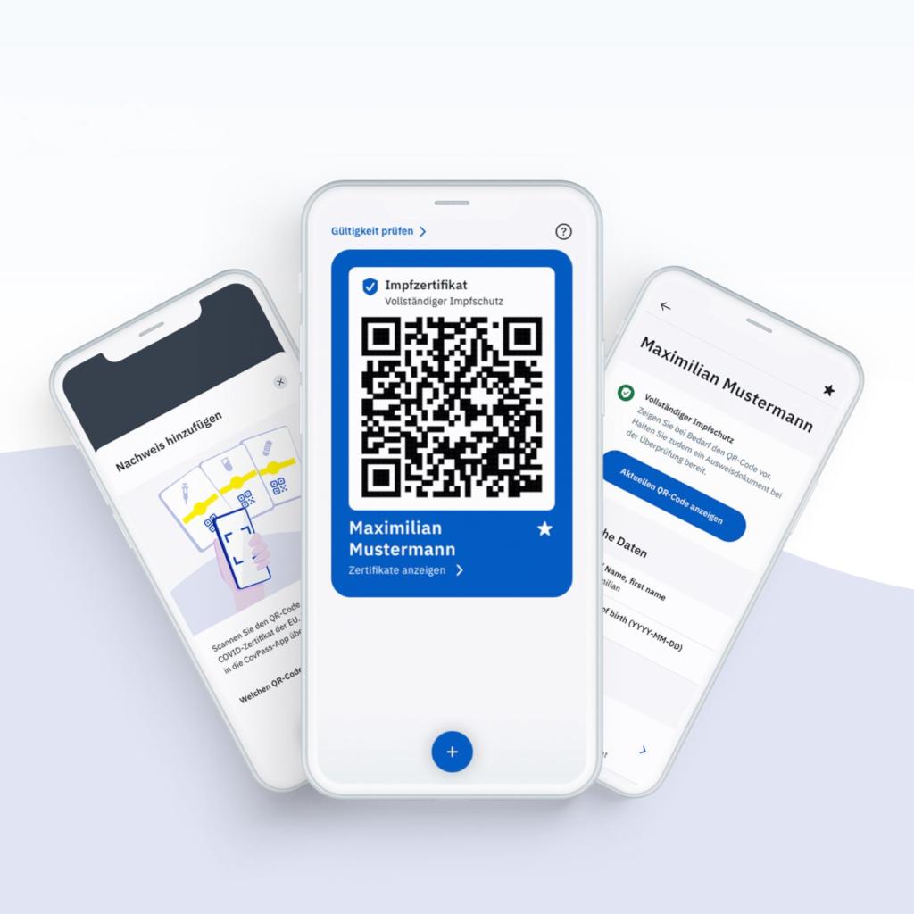 CovPass Handyansichten